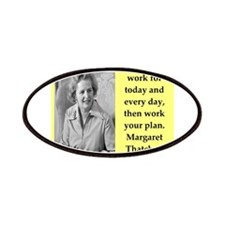 Margaret Thatcher quote Patch