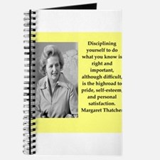 Margaret Thatcher quote Journal
