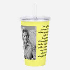 Margaret Thatcher quote Acrylic Double-wall Tumble