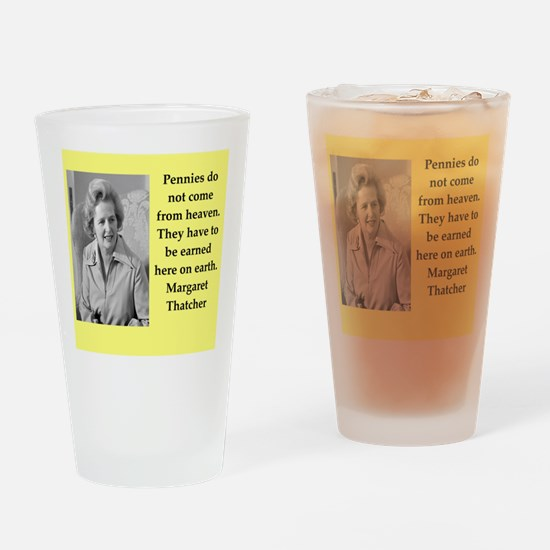 Margaret Thatcher quote Drinking Glass