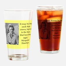Margaret Thatcher quote Drinking Glass