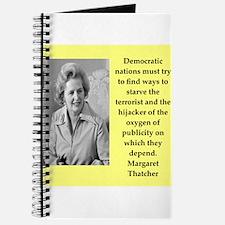 Margaret Thatcher quote Journal