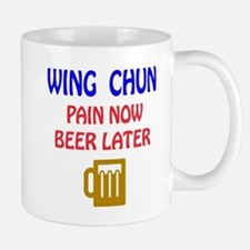 Wing Chun Pain Now Beer Later Mug