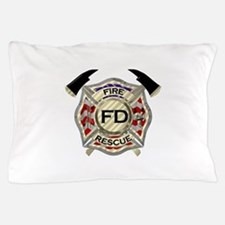 Maltese Cross with American Flag backg Pillow Case