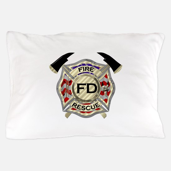 Maltese Cross with American Flag backg Pillow Case