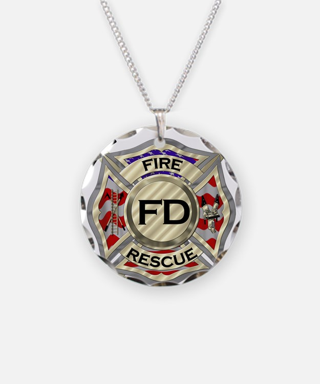 Fire Department Maltese Cross Necklace: Fire Department Designs On