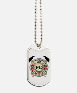 Maltese Cross with American Flag backgrou Dog Tags