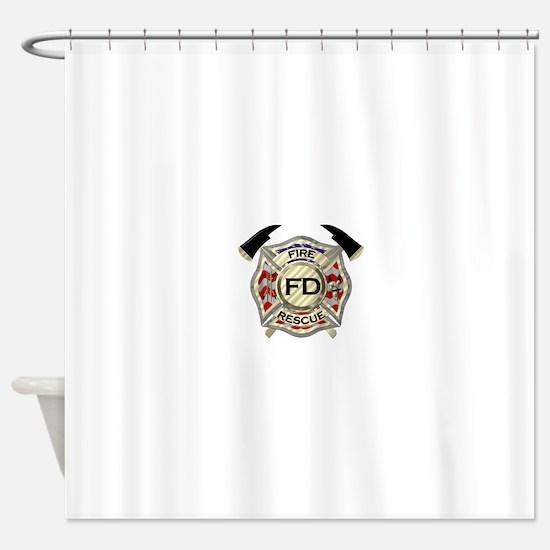 Maltese Cross with American Flag ba Shower Curtain