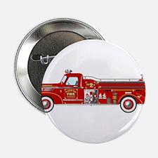 """Fire Truck - Vintage fire truck. 2.25"""" Button"""