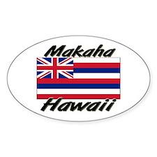 Makaha Hawaii Oval Decal