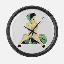 1940's Land Girl Pin Up Large Wall Clock