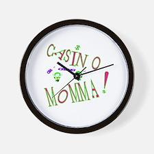 Casino Mom2.png Wall Clock