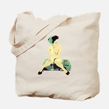 1940's Land Girl Pin Up Tote Bag
