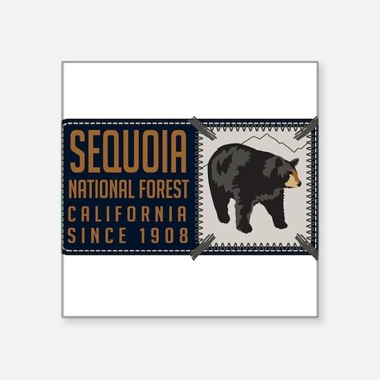 "Unique Sequoia Square Sticker 3"" x 3"""