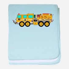 Fire Truck - Concept wild land yellow baby blanket