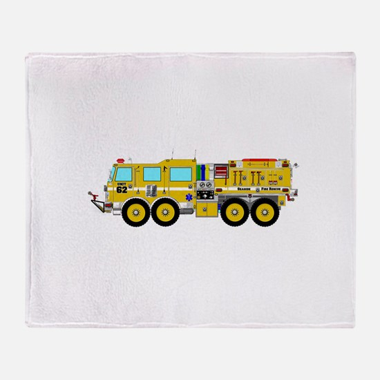 Fire Truck - Concept wild land yello Throw Blanket