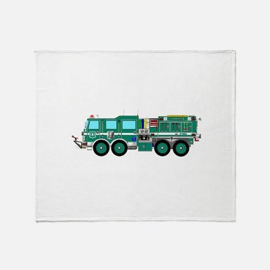 Fire Truck - Concept wild land green Throw Blanket