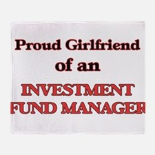 Proud Girlfriend of a Investment Fun Throw Blanket