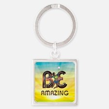 Be Amazing Volleyball Square Keychain