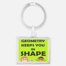 Cute Geometry Landscape Keychain