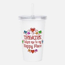 Theatre Happy Place Acrylic Double-wall Tumbler