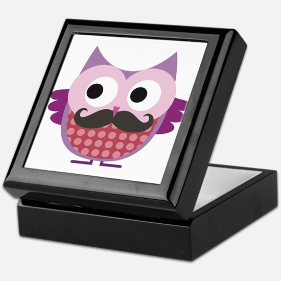 I mustache you....whoo do you love? Keepsake Box