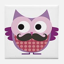 I mustache you....whoo do you love? Tile Coaster
