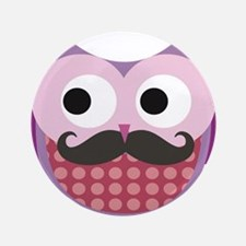 "I mustache you....whoo do y 3.5"" Button (100 pack)"