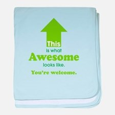 Awesome_lime.png baby blanket