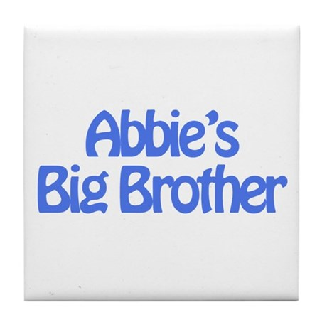 Abbie's Big Brother Tile Coaster