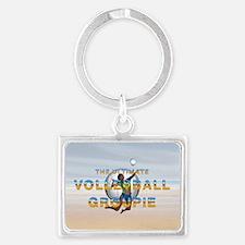 Volleyball Groupie Landscape Keychain Keychains