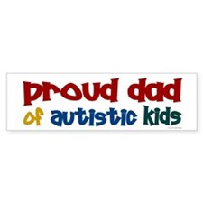 Proud Dad Of Autistic Kids 2 Bumper Bumper Sticker
