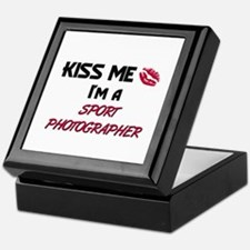 Kiss Me I'm a SPORT PHOTOGRAPHER Keepsake Box