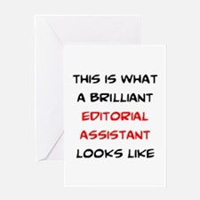brilliant editorial assistant Greeting Card