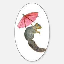 Squirrel Pink Parasol Decal