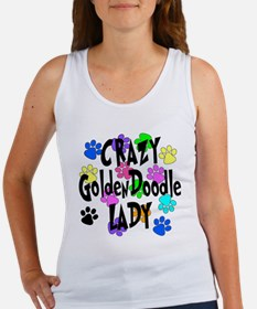 Crazy Goldenddoodle Lady Women's Tank Top