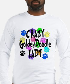 Crazy Goldenddoodle Lady Long Sleeve T-Shirt