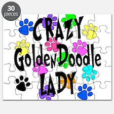 Crazy Goldenddoodle Lady Puzzle
