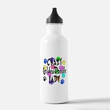 Crazy Goldenddoodle La Water Bottle