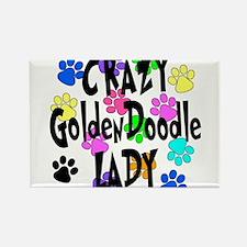 Crazy Goldenddoodle Lady Rectangle Magnet