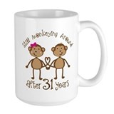 31st anniversary Large Mugs (15 oz)