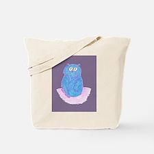 Blue Kitten (violet) Tote Bag