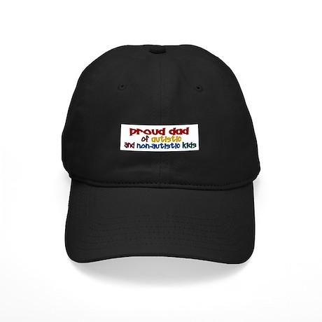 Proud Dad (Autistic & NonAutistic) Black Cap
