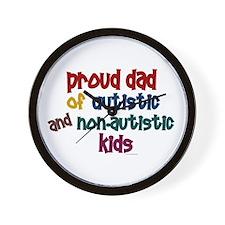 Proud Dad (Autistic & NonAutistic) Wall Clock