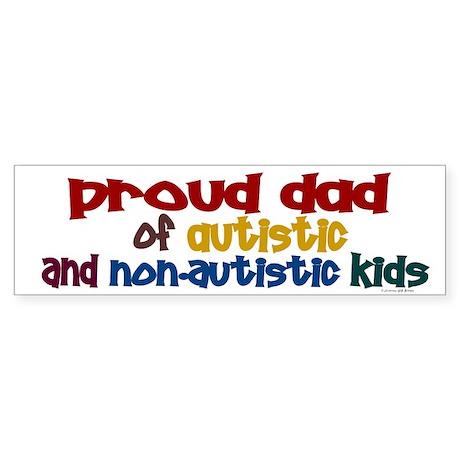 Proud Dad (Autistic & NonAutistic) Sticker (Bumper