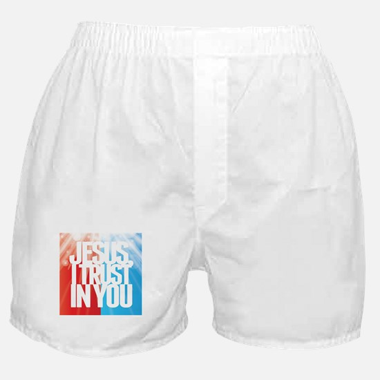 Jesus I Trust in You Boxer Shorts
