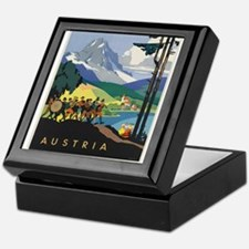 Vintage poster - Austria Keepsake Box