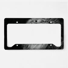 Cute Lion head License Plate Holder