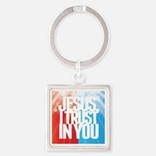Jesus I Trust in You Keychains