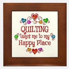 Quilting Happy Place Framed Tile